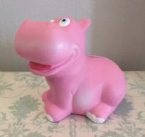 Pink Hippo ~ Children's Ceramic Animal Money Bank